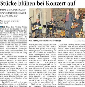 Concert Review (Festival gegen den Strom, Bad Ems, Germany, August 2013)